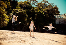 professional photo of active kids at chowder bay