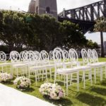 professional photo of wedding ceremony under sydney harbour bridge
