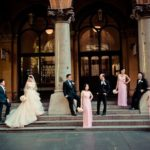 professional photo of bridal party at martin place sydney